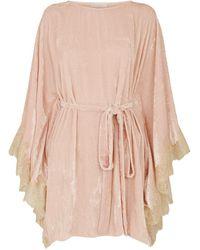 Hot Rosamosario - Crushed Velvet Kimono Nightdress - Lyst e13b5baa1