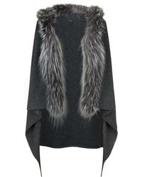 Fabiana Filippi - Fox Fur Trim Gilet - Lyst