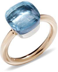 Pomellato - Nudo Blue Topaz Classic Ring - Lyst