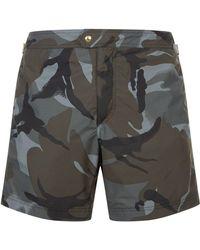 Tom Ford - Camo Print Swim Shorts - Lyst