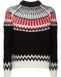 Burberry - Chunky Fair Isle Sweater - Lyst