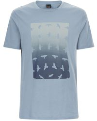 BOSS Orange - Birds Graphic T-shirt - Lyst