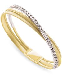 Marco Bicego - Yellow Gold And Diamond Three Row Masai Bracelet - Lyst