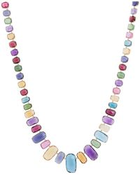 Marco Bicego - Yellow Gold And Mixed Stones Murano Necklace - Lyst