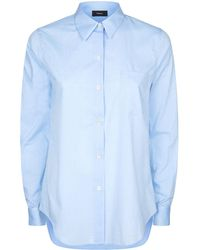 Theory - Patch Pocket Collar Shirt - Lyst