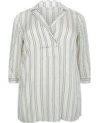 Elena Miro | Striped Tunic Shirt | Lyst