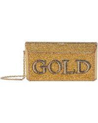 Judith Leiber - Gold Brick Clutch - Lyst
