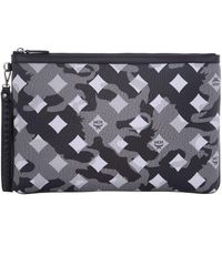 MCM - Camo And Diamond Print Pouch - Lyst
