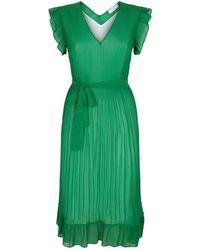 Sandro - Pleated Midi Dress - Lyst