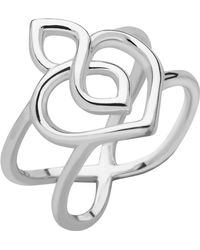 Links of London - Sterling Silver Infinite Love Heart Ring - Lyst
