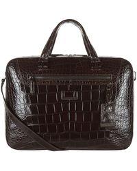 Tumi - Marina Alligator Briefcase - Lyst