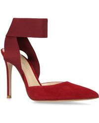 Gianvito Rossi - Suede Beryl Court Shoes 105 - Lyst