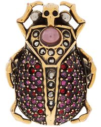 Alexander McQueen - Beetle Embellished Ring - Lyst