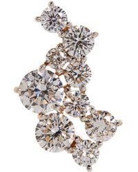 Susan Foster - Diamond Strand Single Stud Earring - Lyst