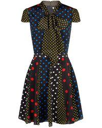 Alice + Olivia - Polka-dot Flared Dress - Lyst
