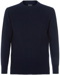 Emporio Armani - Ribbed Knit Jumper - Lyst