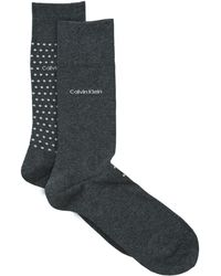 CALVIN KLEIN 205W39NYC - Assorted Spot Solid Socks (pack Of 2) - Lyst