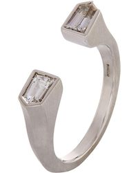 Susan Foster - White Gold Bullet Ring - Lyst