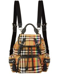 Burberry - Small Rainbow Vintage Check Buckled Rucksack - Lyst