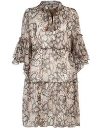 See By Chloé - Python Printed Mini Dress - Lyst