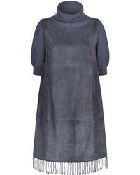 Fabiana Filippi - Suede Fringe Dress - Lyst