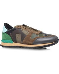 Valentino - Leather Camosneakers - Lyst