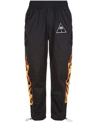 Palm Angels - Palm Tree And Flame Trackpants - Lyst