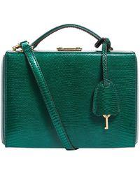 Mark Cross Small Lizard Grace Box Bag