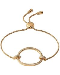 Links of London - Yellow Gold Vermeil And White Topaz Ovals Toggle Bracelet - Lyst