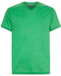 Vilebrequin - Tender V-neck T-shirt, Green, Xxl - Lyst