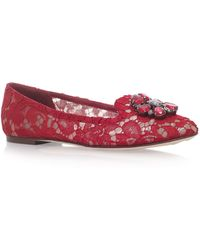 Dolce & Gabbana - Lace Vally Slippers - Lyst