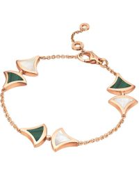 BVLGARI - Rose Gold Malachite And Mother-of-pearl Divas' Dream Bracelet - Lyst