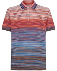 Missoni - Striped Short Sleeve Polo Top - Lyst