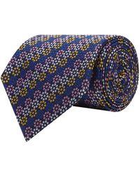 Turnbull & Asser - Dotted Flower Stripe Tie - Lyst