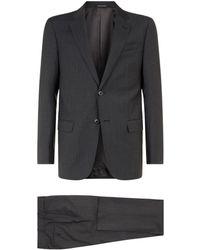 Emporio Armani - Striped Suit - Lyst
