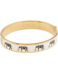 Halcyon Days - Gold Plated Elephant Bangle - Lyst