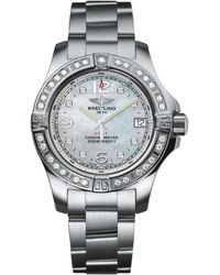 Breitling - Stainless Steel Diamond Bezel Colt Watch 33mm - Lyst