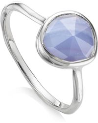 Monica Vinader - Siren Blue Lace Agate Stacking Ring - Lyst