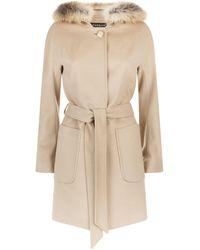 Harrods - Fur Lined Coat - Lyst