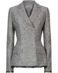 Lela Rose - Embellished Tweed Blazer - Lyst