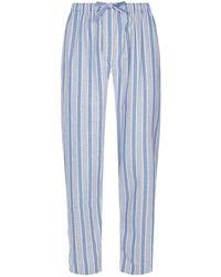 Derek Rose - Brushed Cotton Striped Pyjama Trousers - Lyst