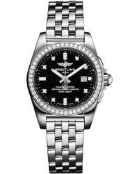 Breitling - Stainless Steel Galactic Sleek Diamond Bezel Quartz Watch 29mm - Lyst