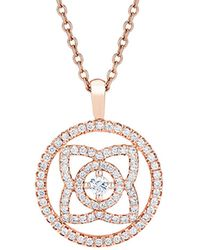 De Beers - Rose Gold And Diamond Enchanted Lotus Openwork Pendant - Lyst