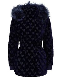 Fendi - Velour Fox Fur Trim Coat - Lyst