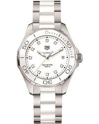Tag Heuer - Aquaracer Diamond Dial Watch - Lyst
