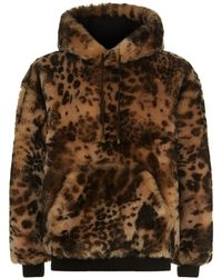 Blood Brother - Reversible Leopard Print Shearling Hoodie - Lyst