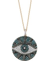 Bee Goddess - Eyelight Diamond Necklace, White - Lyst