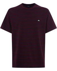 J.Lindeberg - Charles Stripe T-shirt - Lyst