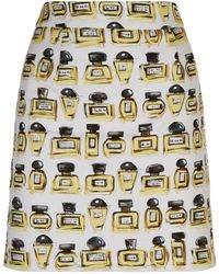 Boutique Moschino - Perfume Bottle Mini Skirt - Lyst