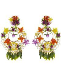 Mercedes Salazar - Tropical Garden Clip On Earrings - Lyst